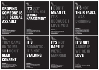 Sexual assault posters